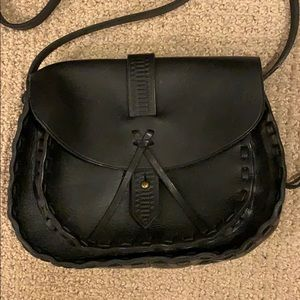 Madewell black stitched crossbody bag